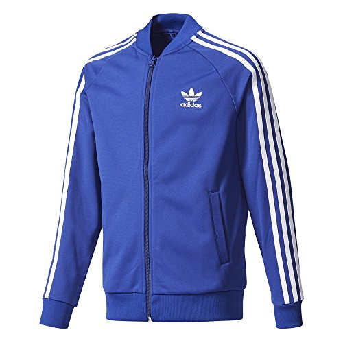 adidas Originals Tops Big Boys' Kids Superstar Track, Mystery Ink/White, - Jacket Adidas Track