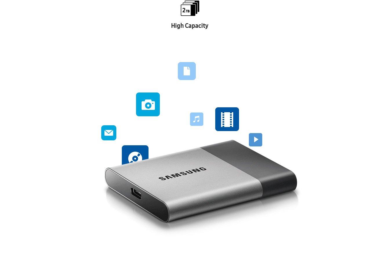 Samsung T3 Portable SSD - 250GB - USB 3.1 External SSD (MU-PT250B/AM) (Renewed) by Samsung (Image #3)