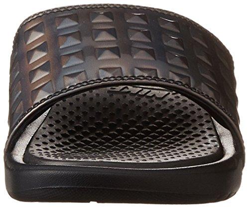 Nike Wmns Benassi Jdi Ultra Prem, Chanclas para Mujer Negro (Black / Black (Silver))