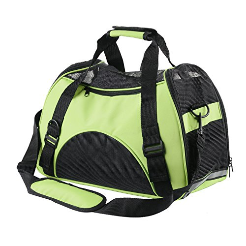ECBUY Portable Pet Carrier Dog Cat Pet Carrier Airline Approved Under Seat Travel Pet Carrier for Small Dogs Soft Sided Pet Carrier Large for Cats