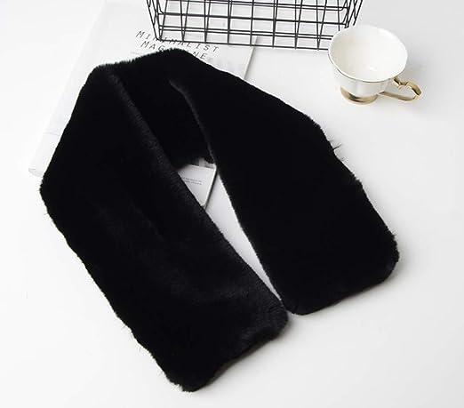 Bufanda para el Cuello c/álida de Invierno Unisex para Mujer y Hombre de Terciopelo Color Negro Cisne 2013 S.L Cuello de Punto para Invierno Color Negro tama/ño 95x15cm