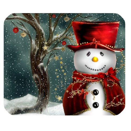 Custom Your Own Personalized Christmas Greetings - Christmas Rectangle Mouse pad - Ideal Gift for all occassions! - Halo Feeder