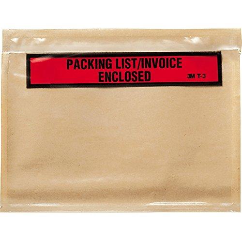 - MMMT3-3m Top Print Packing List Envelope