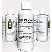 Carbon 60 Olive Oil 90 Milligram/100 Milliliter Organic 99.95 Solvent-Free C60oo Lipofullerene - By GoodAndCheapC60oo.com