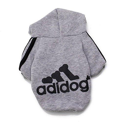 Fleece Dog Hoodies,Rdc Pet Apparel, Adidog Basic Hoodie Sweater, Cotton Jacket Sweat shirt Coat for Small Dog & Medium Dog & Cat (XXL, (Basic Dog Hoodie Sweatshirt)