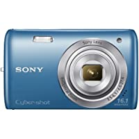 Sony DSC-W670/L 16.1MP Cybershot Digital Camera with 2.7-Inch LCD Screen (Blue) (International Model)