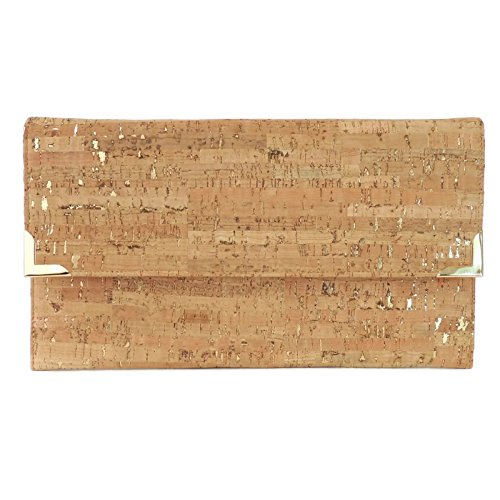Cork Dash Gold Folio Foldover Clutch Bag by Spicer Bags by SPICER BAGS