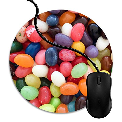 (Mouse Pad Gaming Colorful Jelly Beans, Premium-Textured Surface, Non-Slip Rubber Base, Laser Optical Mouse Compatible, Mouse mat 1J1046)