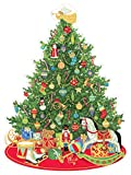 Entertaining with Caspari Oh Christmas Tree Die Cut Advent Calendar, 1-Count