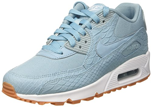 NIKE WMNS Air Max 90 Premium Lifestyle Fashion Sneakers Womens Mica Blue/Mica Blue-Gum Yellow New 896497-400 free shipping new arrival euCZNcTri