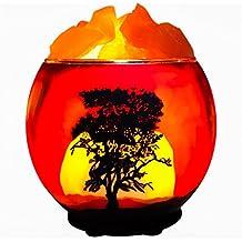 Himalayan CrystalLitez,Natural Himalayan Salt Lamp in A Handcrafted and Unique Artisan Bowl,Natural Air Purifier and Aromatherapy Salt Lamp (Zen Tree)