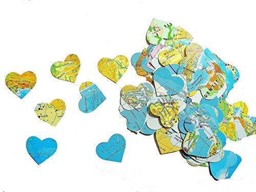 Karte Papier Konfetti Herzen (handgemacht Konfetti)