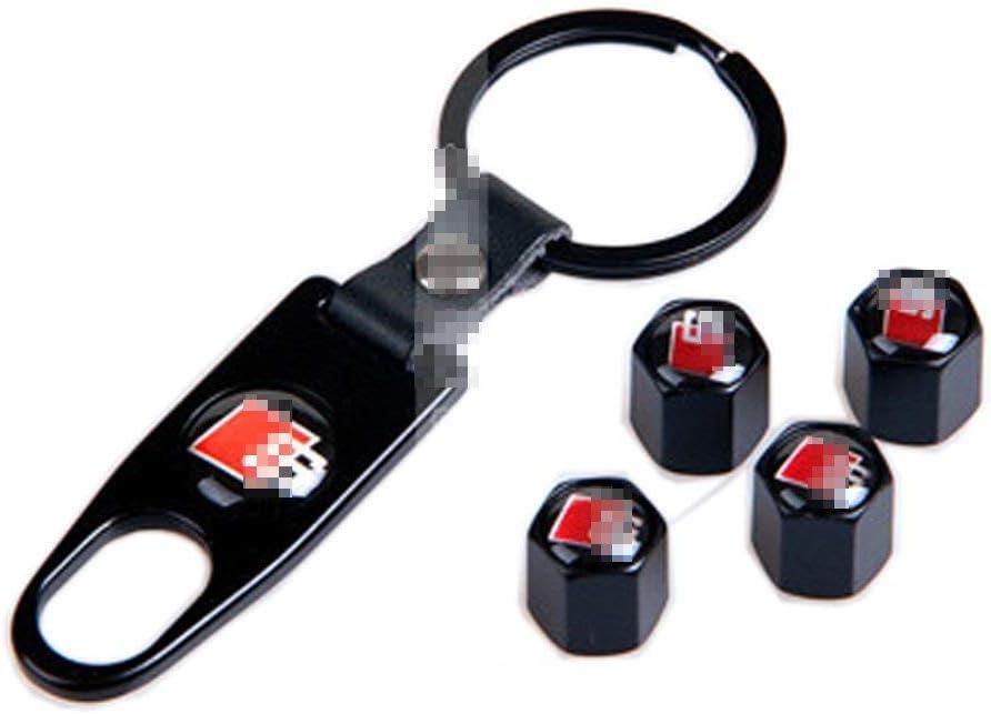 4pcs Long Valve Cap Stem Cover Black for Car Tire External Accessories Compatible with Audi Car Model Tire Valve Cap Decoration Coris