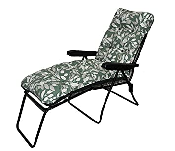 Patio jardín tumbona multiposición silla + reposapiés Ashley ...