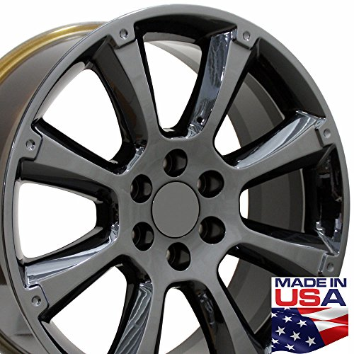 22-inch Fits Cadillac - Escalade Aftermarket Wheels - Black Chrome 22x9 - Set of 4