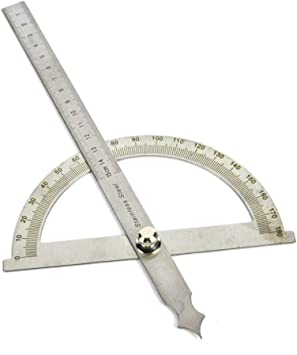Angle ruler protractor stainless steel ruler 180 degree square woodworking to JB