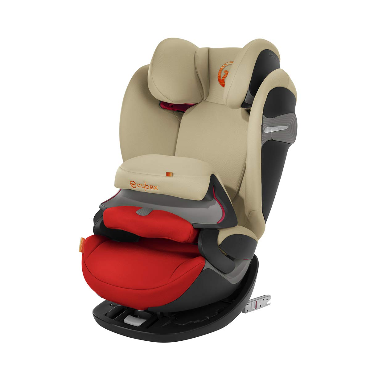 Cybex Gold Pallas S-Fix 2-in-1 Child's Car Seat, for Cars With and Without ISOFIX, Group 1/2/3 (9-36 kg), From Approx. 9 Months to Approx. 12 Years, Autumn Gold
