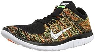 Nike Free 4.0 Flyknit Mens Running schuhe,Black, White