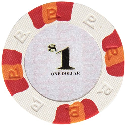 Trademark Poker NexGEN 6000 Series PRO Classic Style Poker Chips (Set of 100), 9gm, White ()