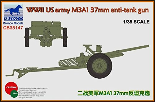 37 Mm Anti Tank - Bronco 1:35 WWII US ARMY M3A1 37mm ANTI TANK GUN CB35147