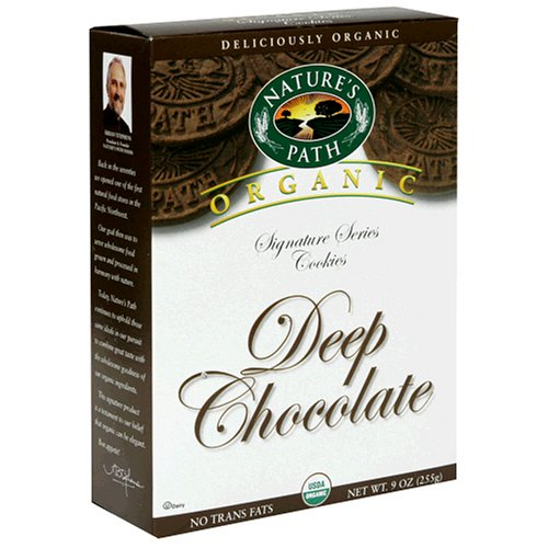 Nature's Path Organic Cookies, Deep Chocolate, 9-Ounce Boxes (Pack of 12)