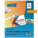 Mifflin Name Badge Inserts,Badge