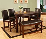 Best Quality Furniture D876Set 6PC CH Set, Dark Cherry For Sale