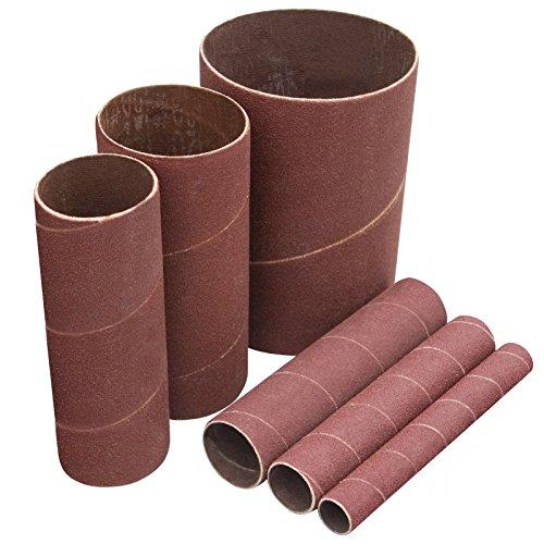 POWERTEC 11200X 4.5 Inch Sanding Sleeves for Spindle Sander | 120 Grit | Aluminum Oxide Sandpaper Sanding Sleeves 4-1/2 Long in 6 Diameters 1/2, 3/4, 1, 1-1/2, 2 & 3 - 6 PK