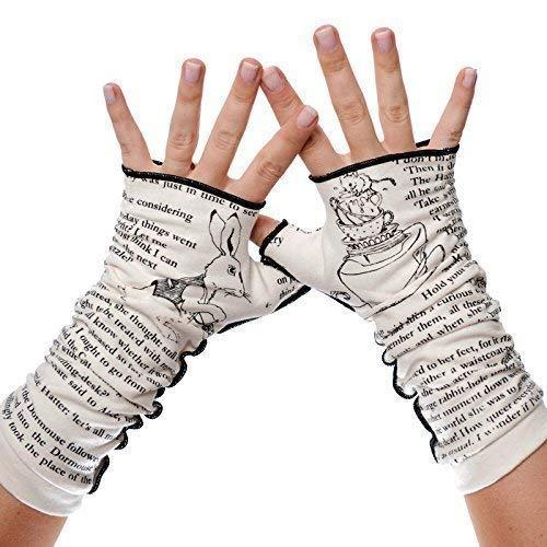 alice in wonderland fingerless gloves