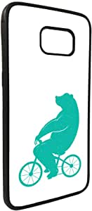 Bear driving a bicycle Printed Case for Galaxy S7
