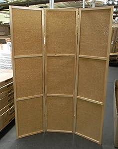 Amazoncom 3 Panel Rattan Wooden Screen Room Divider Natural