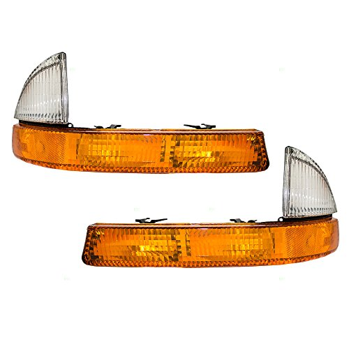 Driver and Passenger Park Signal Corner Marker Lights Lamps Lenses Replacement for Dodge Pickup Truck SUV 55055173AD 55055172AD -
