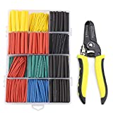 Heat Shrink tubing URBEST 580Pcs 2:1 Heat Shrink Tube Tube Sleeving Wrap Cable Wire 5 Color 8 Size with 10-22 AWG Wire Stripper Wire Crimper and Multi-Function Hand Tool Professional Handle Design