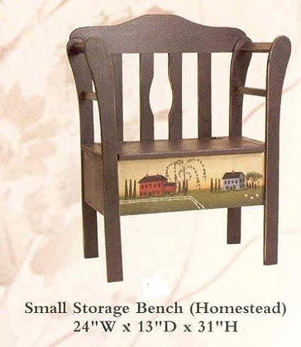 Terrific Amazon Com Amish Small Storage Bench Primitive Plum And Bralicious Painted Fabric Chair Ideas Braliciousco