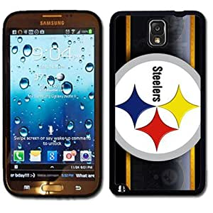 Samsung Galaxy Note 3 Black Rubber Silicone Case - Pittsburgh Steelers Football NFL