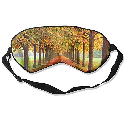 WUGOU Sleep Eye Mask Autumn Shady Trail Lightweight Soft Blindfold Adjustable Head Strap Eyeshade Travel Eyepatch ()