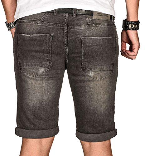 Short Homme Washed Salvarini Grau Alessandro Slim 5xqwORTZ