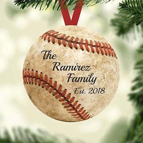 Amazon.com: Christmas Ornament - Gift for a Baseball Fan ...