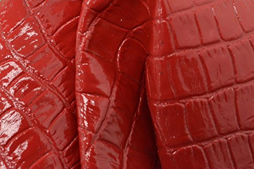 The Leather Guy - Patent Lollipop Red Gator Leather Cow Hide 8