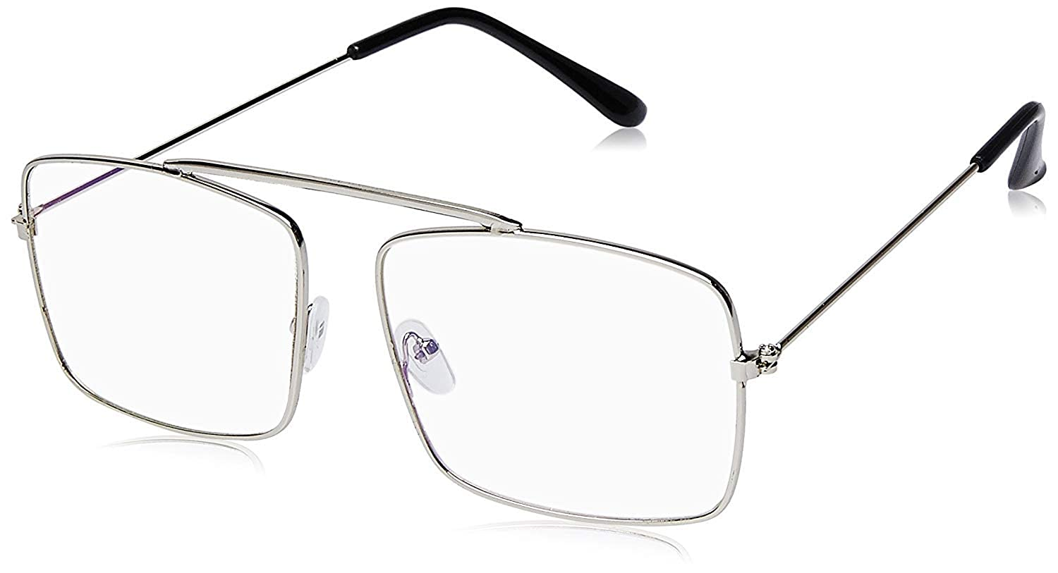 c42882085 Arzonai Raees Rectangle Shape Silver-Transparent UV Protection Sunglasses | Frame  For Men & Women [MA-9999-S3 ]: Amazon.in: Clothing & Accessories