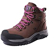 CAMEL CROWN Women's Waterproof Hiking Boots Outdoor Lightweight Work Safety Boots,Khaki,8.5 US