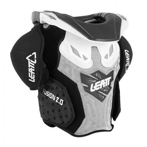 Leatt Fusion 2.0 Jr Protective Vest (White/Black, Large/X-Large) (Leatt Neck Brace Motocross)