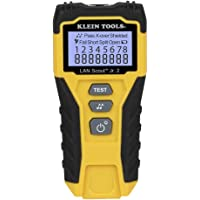 Cable Tester, LAN Scout Jr. 2 Ethernet Cable Tester for CAT 5e, CAT 6/6A Cables with RJ45 Connections Klein Tools VDV526…