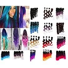 "#1 Best Selling eCowboy Vicssa Fashion Synthetic Hair 6 Bundles and 1 Closure Bohemia Curls Length: 16"" -18""-20"" Inches Tri-color pink"