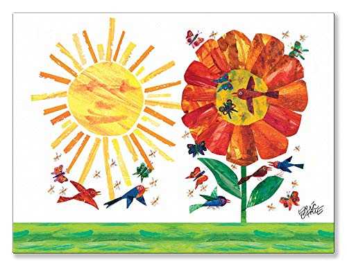 (Oopsy Daisy Fine Art for Kids Garden Stretched Canvas Art by Eric Carle, 24 by 18-Inch)
