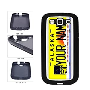Personalized Custom Alaska License Plate TPU RUBBER SILICONE Phone Case Back Cover Samsung Galaxy S3 I9300 by supermalls