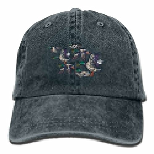 - Baseball Cap Male Mallard Ducks - Adjustable Trucker Hat Cotton Denim, DanLive Male Mallard Ducks