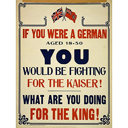 Wee Blue Coo Propaganda War WWI Canada German Kaiser Fight King Patriot Unframed Wall Art Print Poster Home Decor Premium