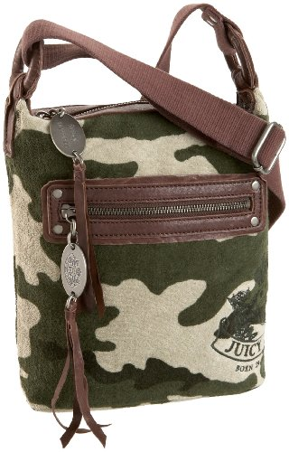 - Juicy Couture YHRU1878 Terry: Camo Heritage Crest X Body,Green Multi,one size