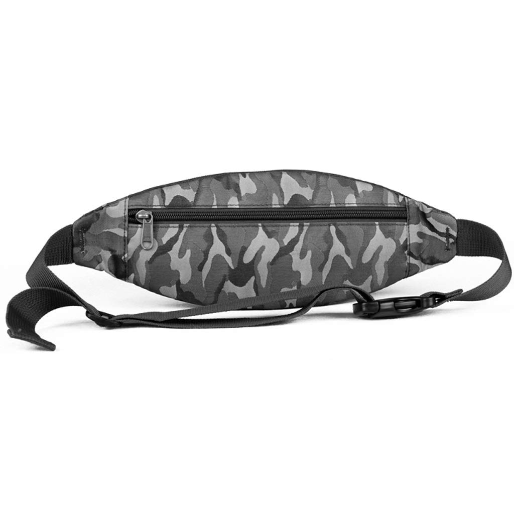 SUN HUIJIE Slim Soft Polyester Water Resistant Waist Bag for Man Women Carrying